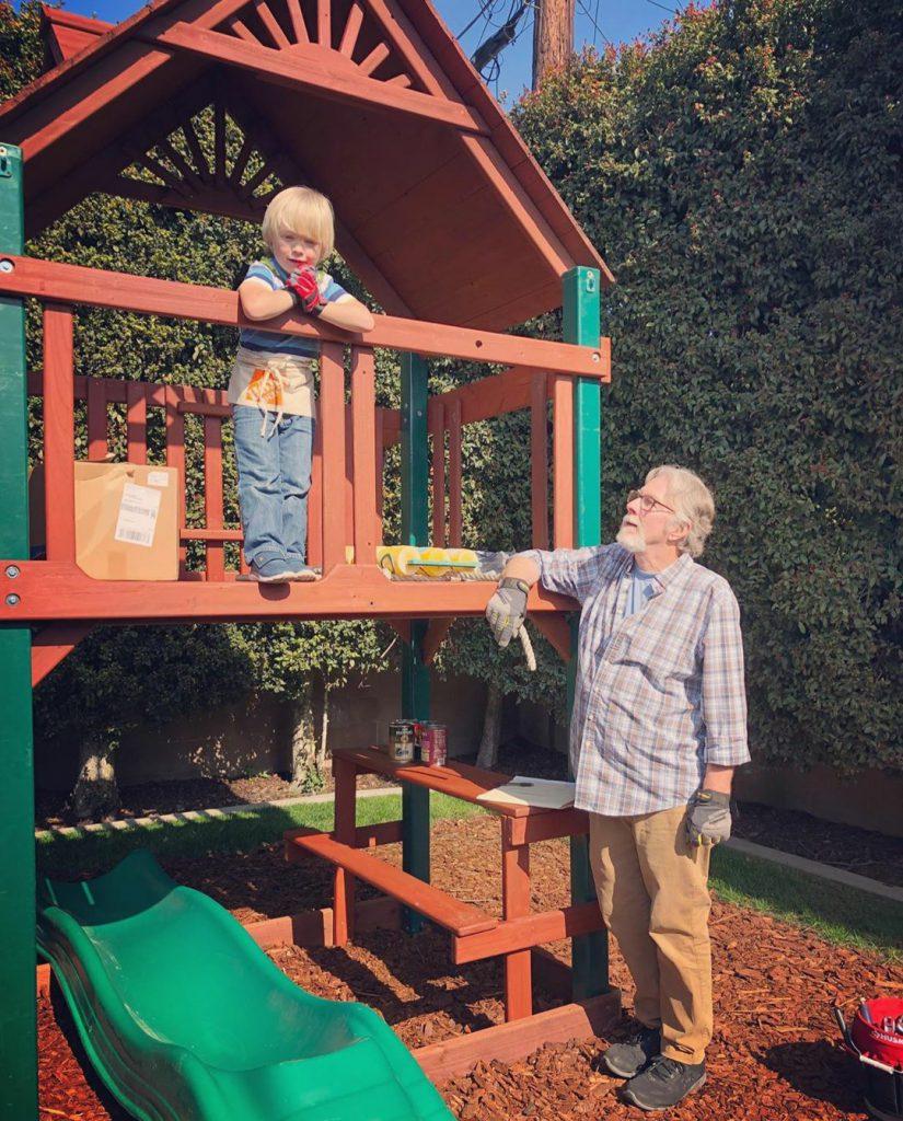 Papa Kevin and Morgan.