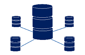 Some connected database icons.